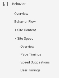 site speed location google analytics